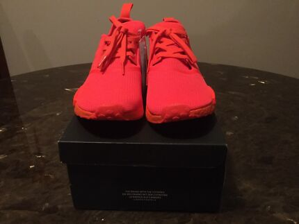 """Adidas NMD R1 Monochrome Pack """"Solar Red"""" Size US 11"""
