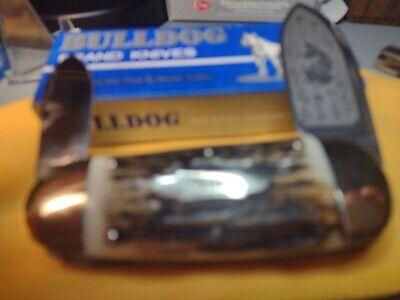 BULLDOG BRAND SMALL SUNFISH KNIFE SUPER THICK STAG HANDLES
