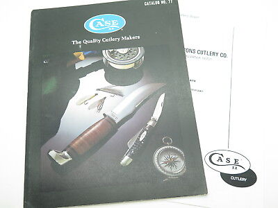 Vtg 1977 Case Dealer Catalog 1978 Price List Book Fixed Folding Pocket Knife