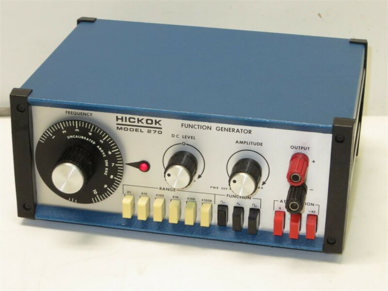 Vintage Hickok Function Generator Signal Generator Model 270 ~ TESTED & WORKING