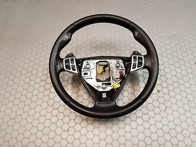 08 Saab 93 Leather Steering Wheel + Switch AUTOMATIC