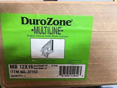 Dura Zone 37152 Multi-blade 12 X 16 Motorized Rectangular Air Hvac Damper 24v