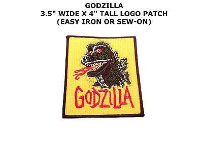GODZILLA LOGO CARTOON COMICS IRON OR SEW-ON PATCH APPLIQUE SUPER MONSTER