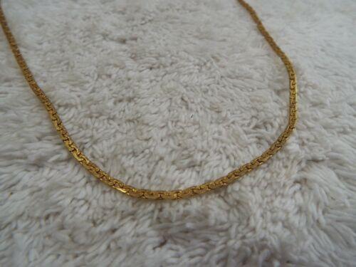 Goldtone Herringbone Chain Necklace (F38)