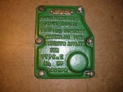 John Deere 1-12hp E Governor Cover Hit Miss Gas Engine Antique Vintage