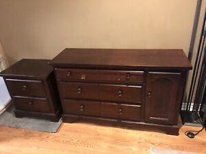 Dresser/change table and side dresser