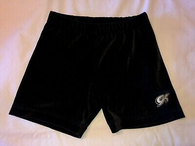 GK Elite Gymnastics Shorts Black Hologram CXS CS CM CL 2 4 6 8 Small Medium