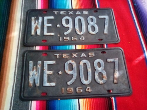 1964 TEXAS  LICENSE  PLATES WE9087