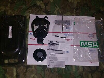 Open Box Millennium Full Face Mask Respirator With 40mm Filter Size Small Ppe