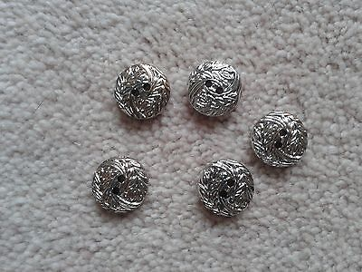 Set of Bright Chrome Look Buttons Used but in good condition