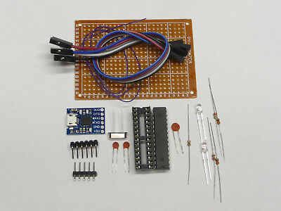 Arduino Bootloader Usb To Ttl Kit Atmega328p-pu Crystal Cap Led Resistor Diy Kit