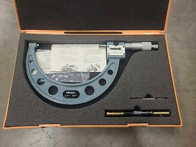Mitutoyo 193-216 Digital Counter Micrometer 5-6 .0001 Carbide Face