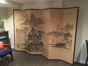Large hand painted screen
