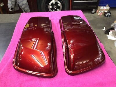 🏍 Harley OEM Touring Saddle Bag Lids Mysterious Red  2014-2020 STREET, ROAD 🏍