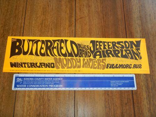 1966 JEFFERSON AIRPLANE BUTTERFIELD BLUES BUMPER STICKER AOR 2.55 BG29 THE SOUND