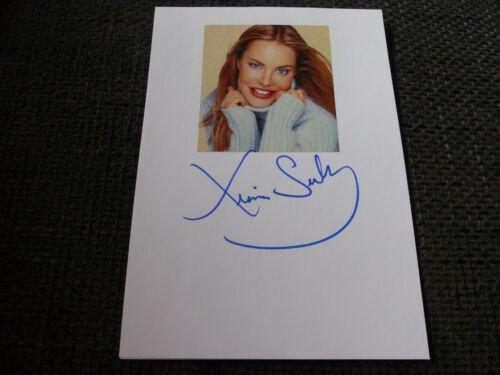 XENIA SEEBERG signed Autogramm auf 15x21 cm Karteikarte InPerson LOOK