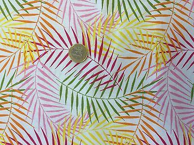Farn Blätter Muster Deko Stoff Meterware leuchtende Farben (Farn-blätter)