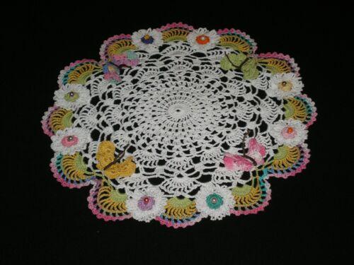 New Handmade Crocheted Doily Flowers/Butterflies
