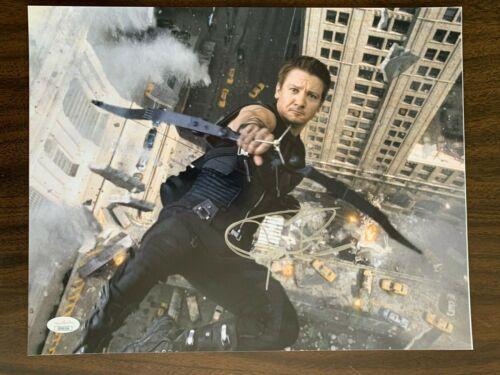 Avengers Jeremy Renner Autographed Signed 11x14 Photo JSA COA
