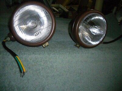 Pair Original Design Fordson Dexta Major Power Major Tractor Headlights Headlamp