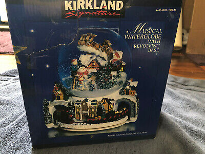 Vintage Kirkland Signature Musical Waterglobe with Revolving Base Globe w/train