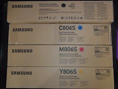 New / Genuine Samsung Toner Set K806S C806S M806S Y806S X7600GX X7600LX X7500LX+ for sale  Shipping to India