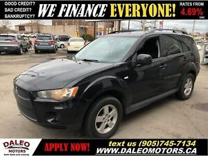 2011 Mitsubishi Outlander ES| BLUETOOTH| HEATED SEATS| 4 WHEEL D
