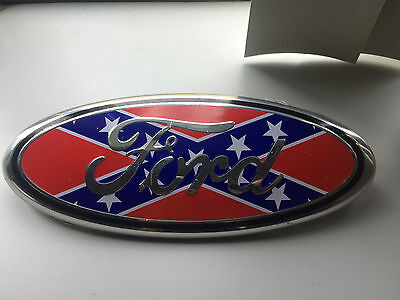 1X NEW Confederate Sty FORD F-150/F250/F350 OVAL EMBLEM FRONT Tailgate 9''Badges