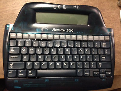 Alphasmart 3000 Portable Keyboard Word Processor W Rechargable Battery