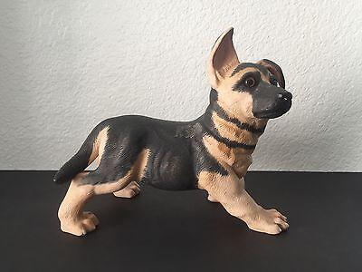 "Vintage Enesco German Shepherd Puppy Porcelain Figurine Dog Statue Sculpture 10"""