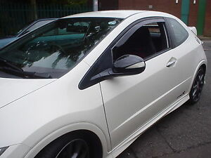 HONDA CIVIC 07  FN2 3DR  inc TYPE R TEAM HEKO WIND RAIN DEFLECTORS