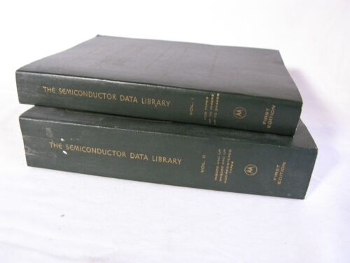 VINTAGE 1972 The Semiconductor Data Library 1st Edition by Motorola Volume 1 & 2