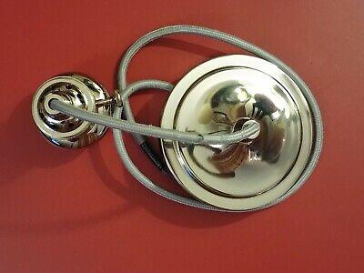 Pottery Barn Classic Pendant Hardwire Cord Bulb Kit Set Polished Nickel  (Classic Polished Nickel Chandelier)
