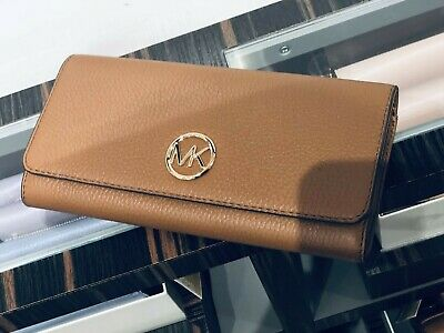 Michael Kors Women Leather Long Wallet Clutch Handbag Purse Credit Card Holder