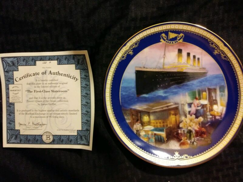 Antique 1st Class Stateroom Titanic Queen of the Ocean authentic plateware #682A