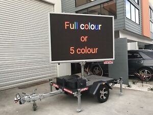 Full colour LED sign trailer hire Meadowbrook Logan Area Preview