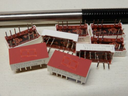 LTS312AHR Seven Segment LED Display Chips Qty 8 NOS .4 x .75 Red