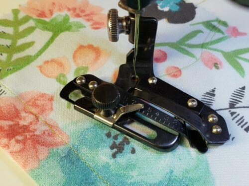 Singer Adjustable Hemmer Foot Attachment ~ Fit Featherweight 221 ~ Stitch Tested