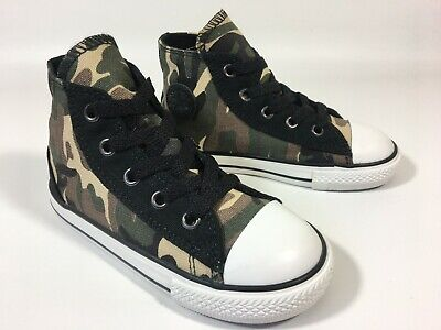 Infants Boys Converse Camouflage High Top All Star Trainers Sneakers Size UK...