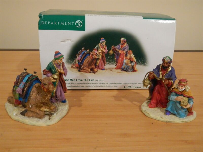 Dept 56 The Holy Land, Little Town of Bethlehem - Wise Men From The East - 2 Pc