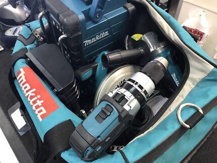 Makita Cordless Kit Radio Circular Saw Grinder Hammer Drill