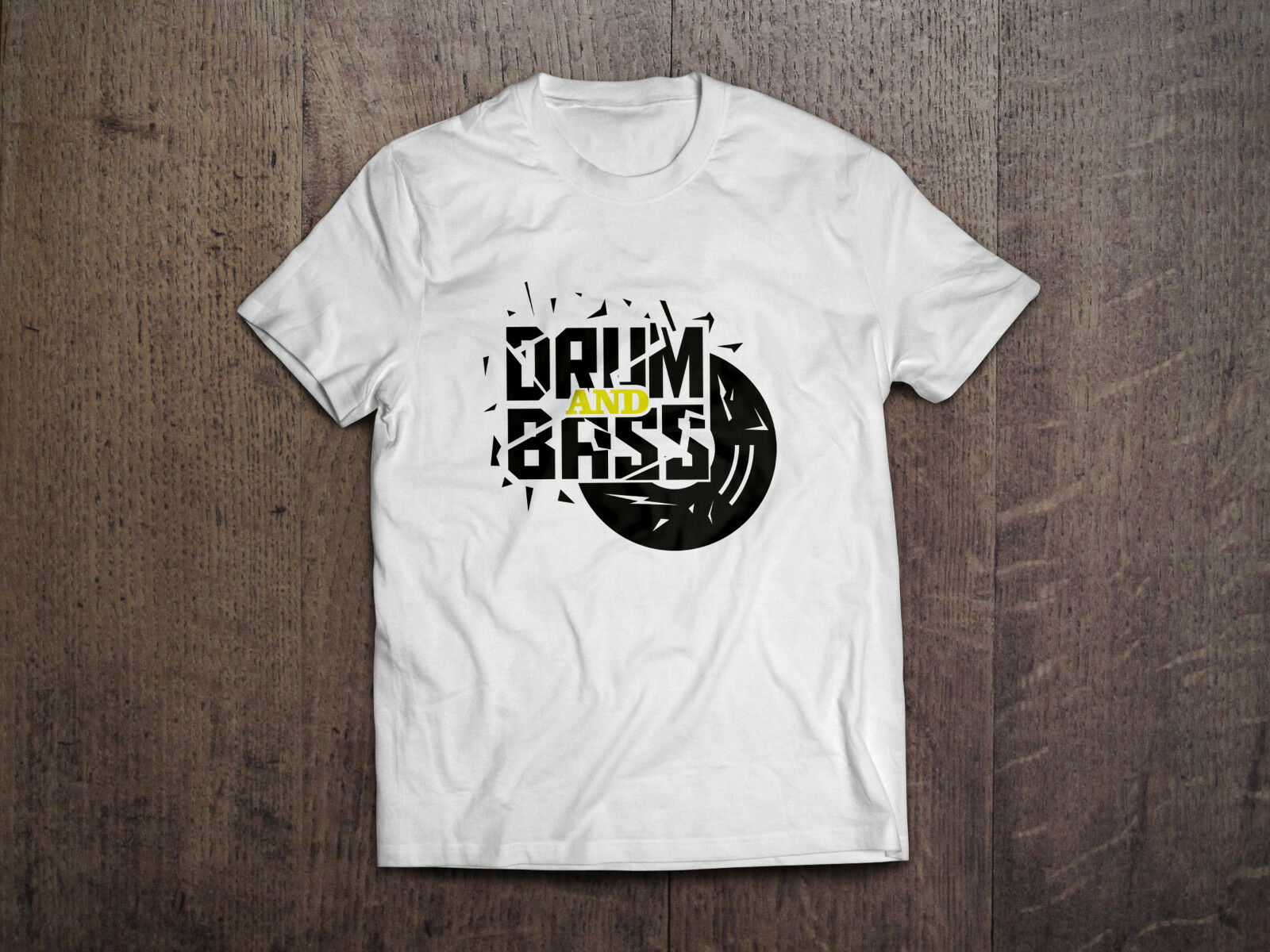 DNB Drum and Bass Vinyl Reggae Jump Up Rave T-Shirt Shirt NEU!