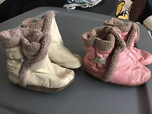 Robeez fur booties 6-12 months