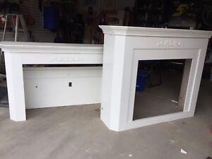Free gas fireplace mantle and tv surround