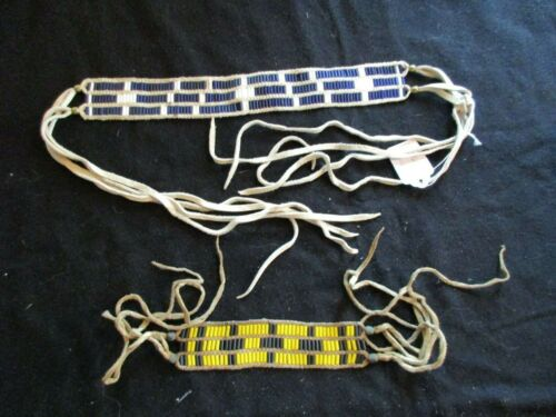 """NATIVE AMERICAN BEADED NECKLACE AND BRACELET, OLD """"PAWN"""" BEADS,  OTT-0721*05714"""