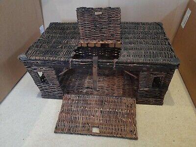 Vintage Wicker Pigeon Carrier Basket