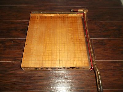 Vintage 1950s Ingento No 4 Wooden Paper Cutter Photo Trimmer Great Condition