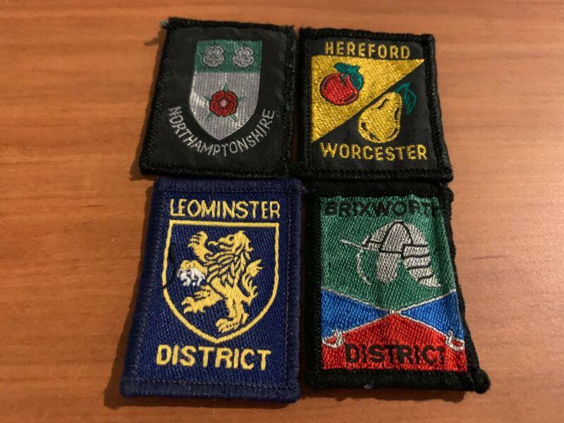 Four (4) 1990's District Badges, UK Scout Association