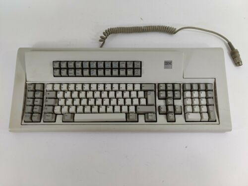 RARE Vintage IBM Model F Keyboard 6110347 | 5-Pin DIN Capacitive Buckling Spring