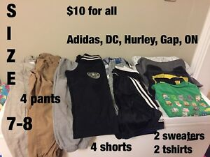 Boys size 7-8 clothing